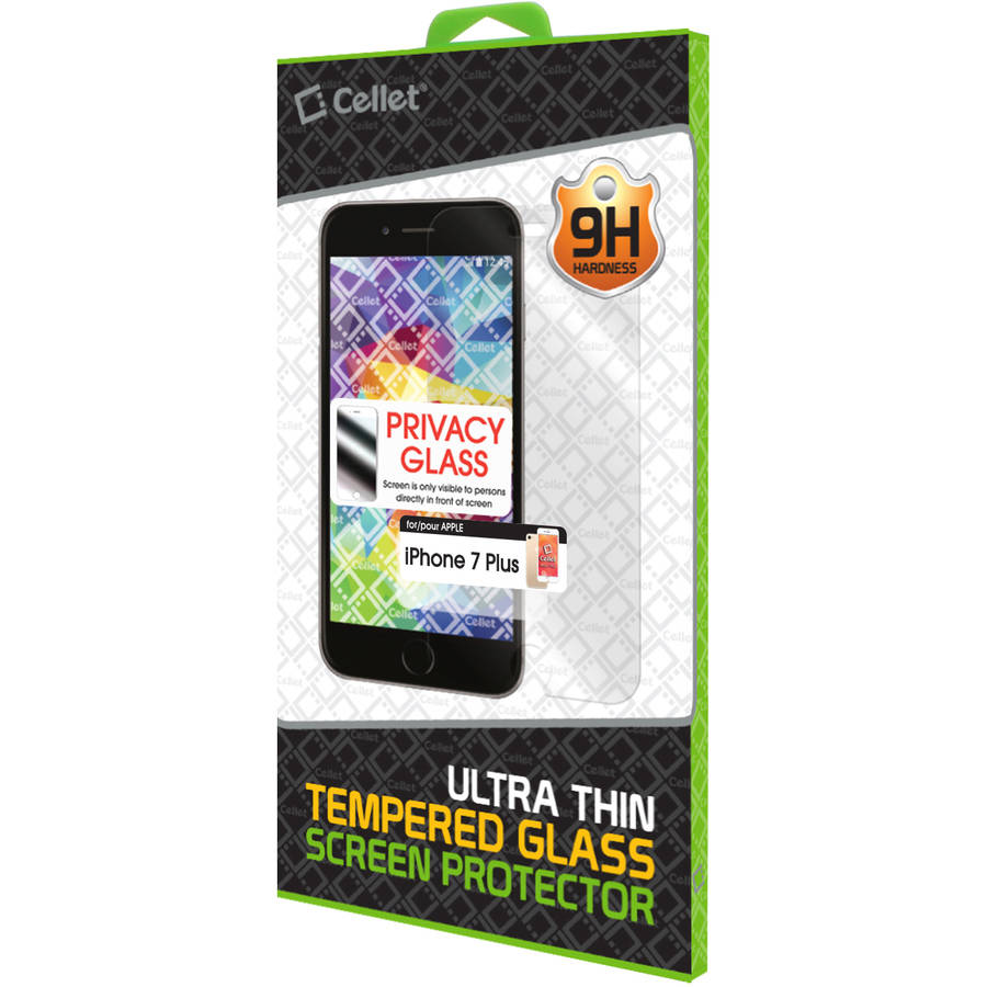 Tempered Glass Privacy Screen Protector for iPhone 7 Plus Perfect Fit