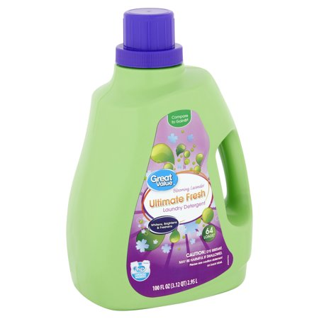 Best Great Value Ultimate Fresh Liquid Laundry Detergent, Blooming Lavender Scent, 64 Loads deal