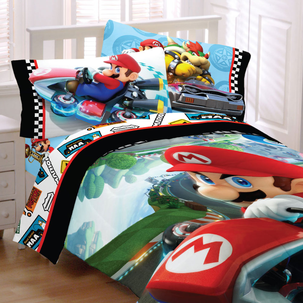 Super Mario Kart Bedding Nintendo Road Rumble Racing Vide...