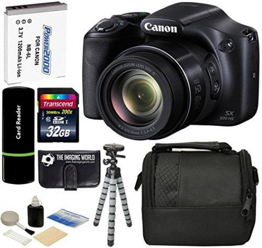 Canon PowerShot SX530 HS 16MP Super 50x Optical Zoom IS 1...