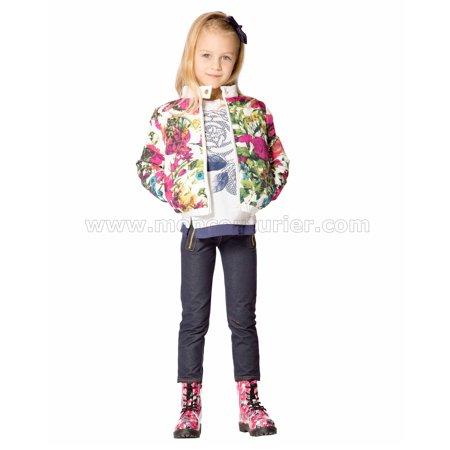 Deux par Deux Girls' Quilted Jacket Rose Ballad, Sizes 7-12 - 8 - image 1 of 2