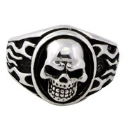 Hellfire Jewelry Sterling Silver Evergreen Skull Ring