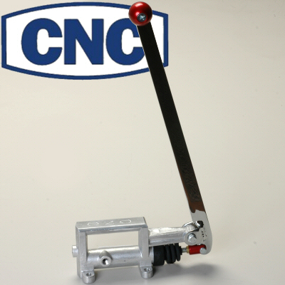 Cnc Staging Hand Brake For Drag Racing With 3/4 Inch Bore Cylinder Upright Handle With Red Knob