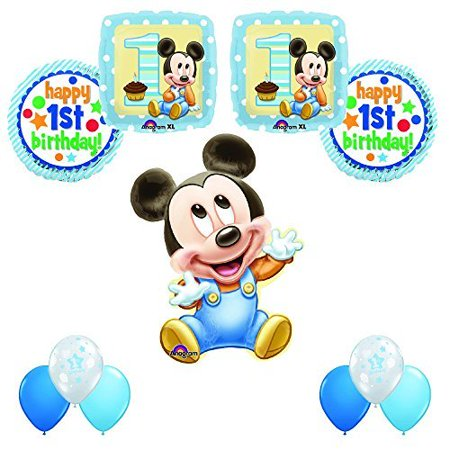 MICKEY MOUSE 1st Birthday Party 11pc Balloon Decoration Kit