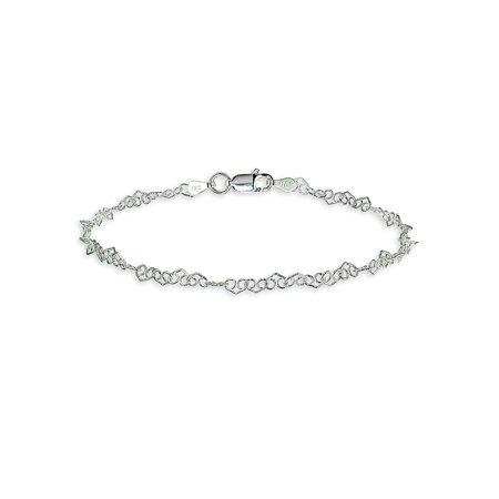 Heart Filigree Sterling Silver Chain Bracelet Accurist Ladies Bracelet