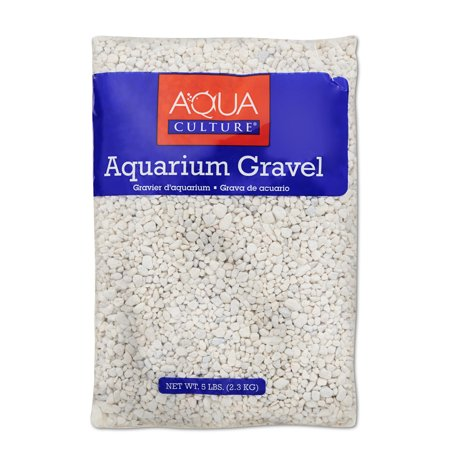 (2 Pack) Aqua Culture Aquarium Gravel, White, 5-Pound