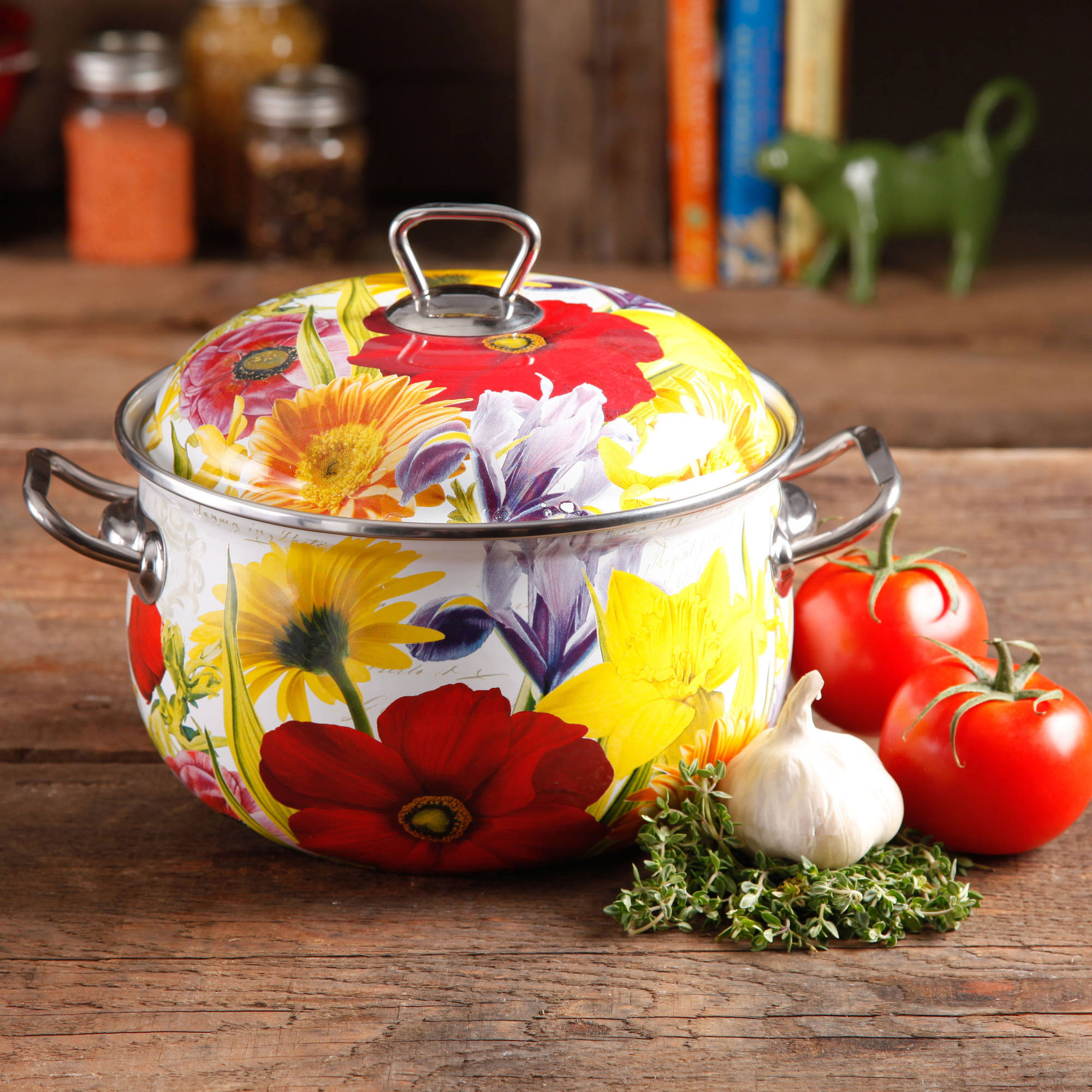 The Pioneer Woman Floral Garden 4-Quart Dutch Oven, Multi-Color