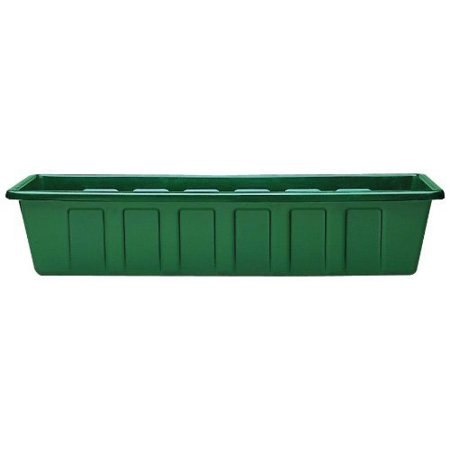Novelty Polypro Plastic Hunter Green Flower Box Planter, 30 (Polypro Flower Box)