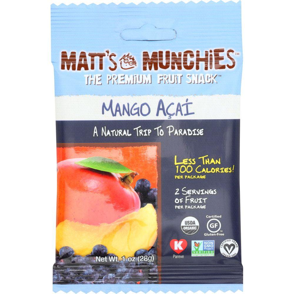 Matt's Munchies Fruit Snack, Mango Acai, 1 Oz (Pack Of 12)