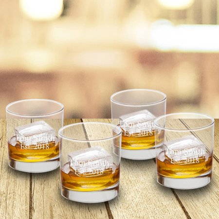 Personalized Lowball Whiskey Glasses - Set of (Personalized Glassware)