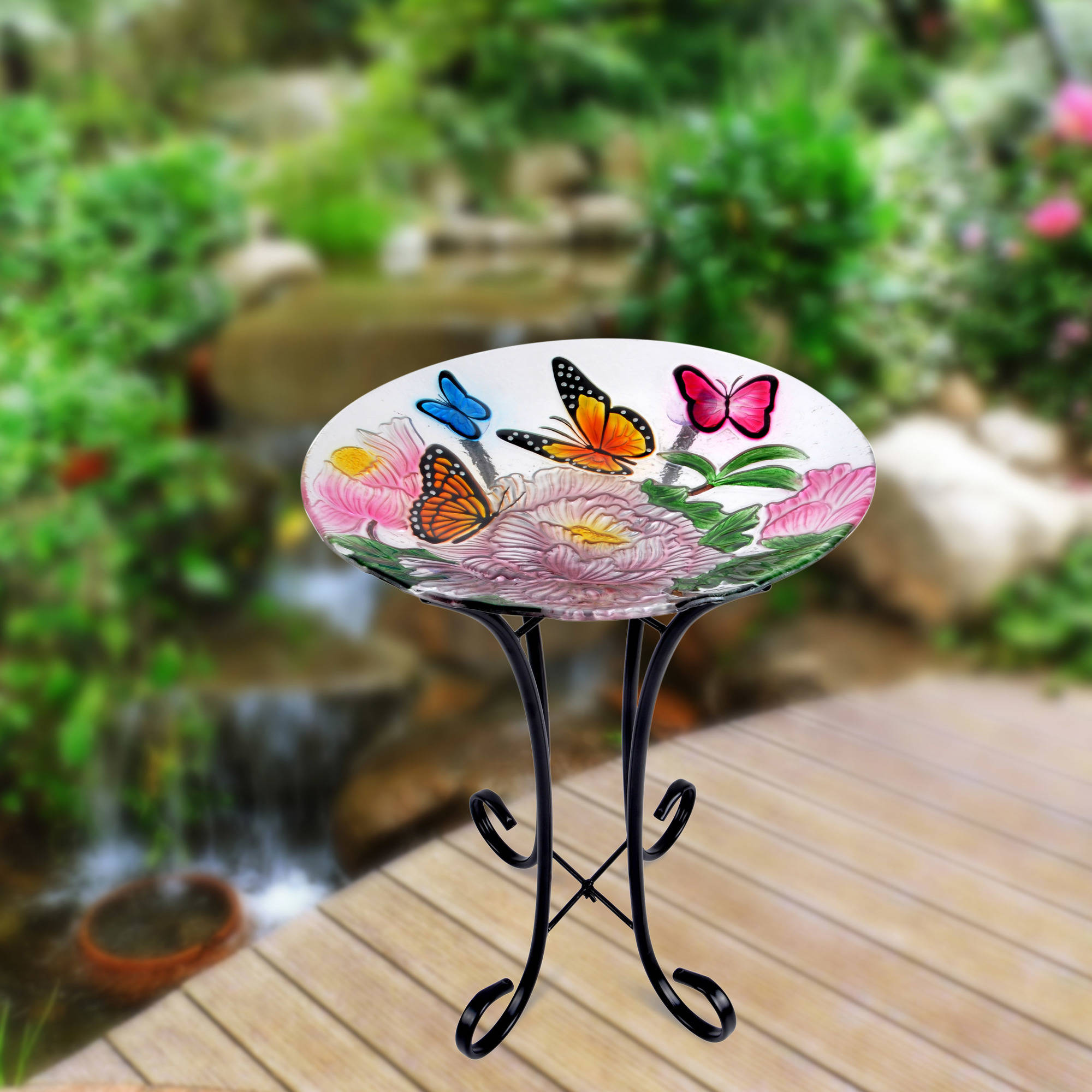 Better Homes and Gardens Butterfly Birdbath by