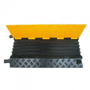 """Traffic facilities, 5 channel rubber cable protector / Rubber Electrical Wire Cable Cover Ramp Guard Warehouse Cord Protector , L36""""XW20""""XH2""""(L900xW500xH50mm) 37LBS"""