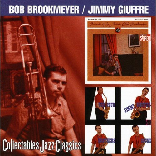 2 LPs on 1 CD: Bob Brookmeyer: PORTRAIT OF AN ARTIST (1960)/Jimmy Giuffre: THE FOUR BROTHERS SOUND (1958).Includes liner notes by Nat Hentoff and Martin Williams.PORTRAIT OF AN ARTIST:Personnel: Bob Brookmeyer (trombone, piano); Gene Quill (alto saxophone, clarinet); Gene Allen (tenor & baritone saxophones); Al Cohn (tenor saxophone); Danny Bank (baritone saxophone, flute, bass clarinet); Ernie Royal, Bernie Glow, Nick Travis, Irvin Markowitz, Ray Copeland (trumpet); Earl Chapin, John Barrows (French horn); Frank Rehak (trombone); Don Butterfield, Bill Barber (tuba); George Duvivier (bass); Charlie Persip (drums).Originally released on Atlantic (1320).THE FOUR BROTHERS SOUND:Personnel: Jimmy Giuffre (tenor saxophone); Bob Brookmeyer (piano); Jim Hall (guitar).Originally released on Atlantic (1295).