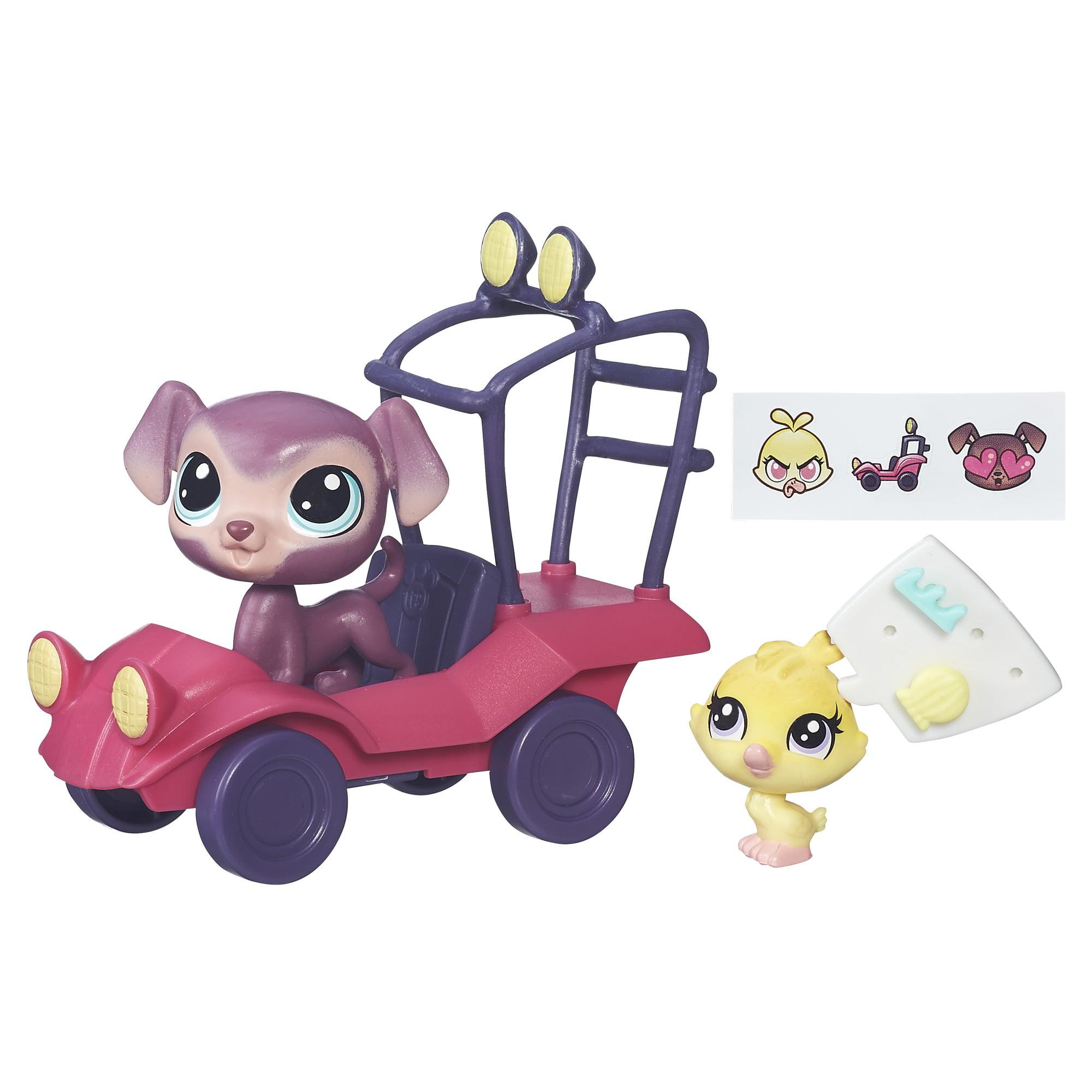 Littlest Pet Shop City Rides Bouncer Eagerton & Quackie Fairfeather Vehicle & Figure