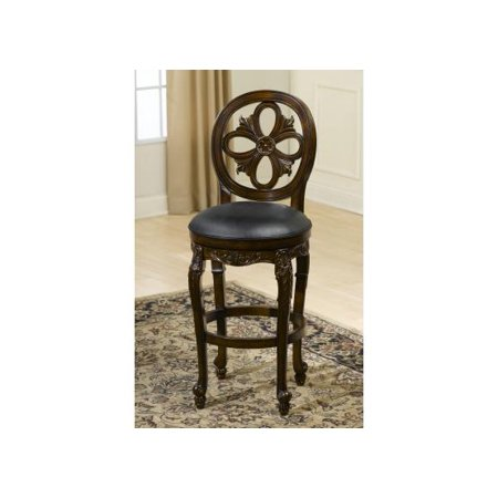 Swell Hillsdale Rosalee Swivel Counter Stool In Distressed Cherry W Copper Unemploymentrelief Wooden Chair Designs For Living Room Unemploymentrelieforg