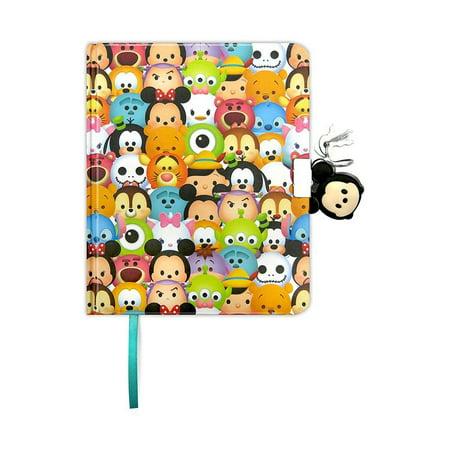 Locking Diary - Fun89 Disney Pixar Tsum Tsum Diary with Lock Novelty Character Stationery