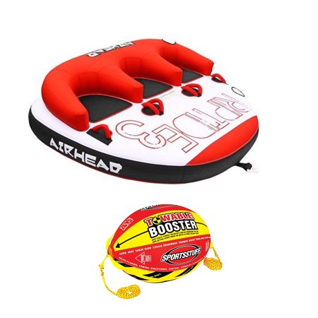 Riders Ball - Airhead Triple Rider Inflatable Backrest Tube with 4K Booster Ball Towing System