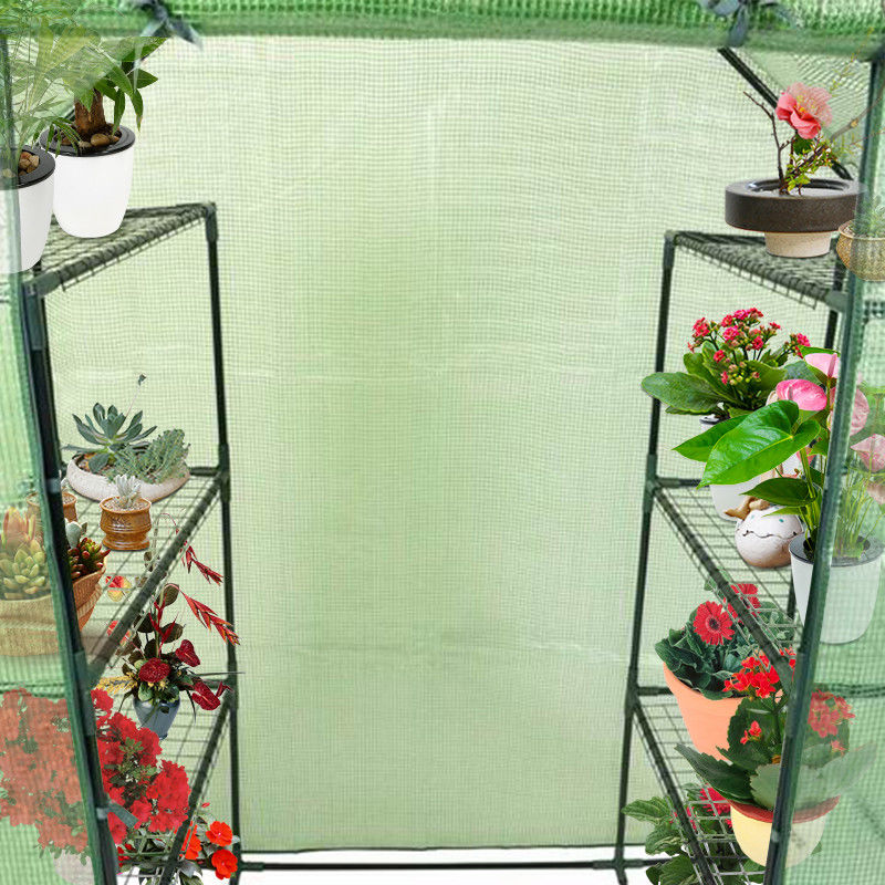 Portable Mini Walk In Outdoor 4 Tier 8 Shelves Greenhouse - image 1 of 9