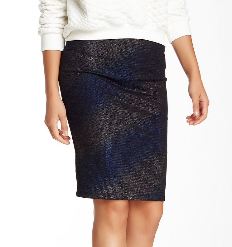 ASTR NEW Black Women's Size Medium M Pull-On Straight Pencil Skirt