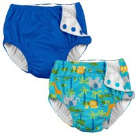 560ce59a7 Product Image i play Baby and Toddler Snap Reusable Swim Diaper - Royal  Blue and Aqua Jungle -
