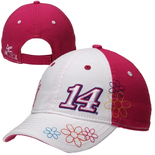 Chase Authentics Tony Stewart Youth Girls Whim Adjustable Hat - White/Pink - OSFA