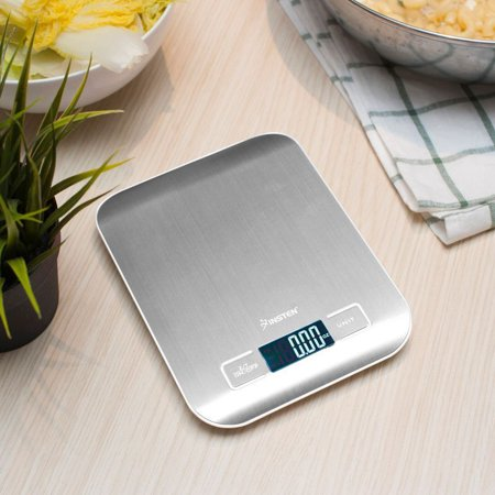 Digital Kitchen Food Scale Weighing Cooking Scale Grams and Ounces with Stainless Steel Platform and LCD Display UP to 11 lb/5kg (Digital Scale Gram Kitchen)