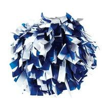 Pizzazz Royal Blue White 2 Color Plastic Cheer Single Pom Pom