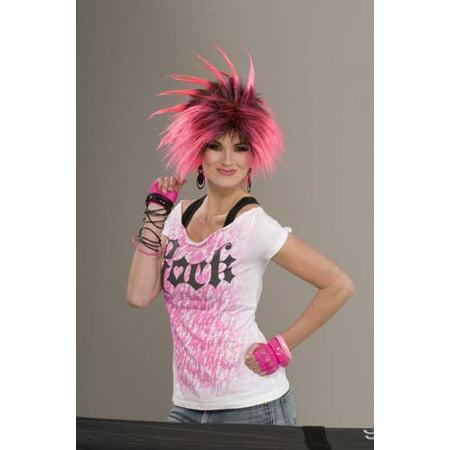 80's Punk Rock Bubble Gum Punk Costume Wig - image 1 de 1