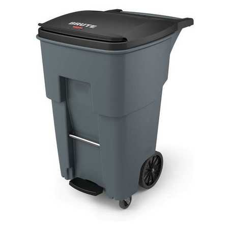 RUBBERMAID Trash Can,Free-Standing,Roll Out,65 gal. 1971974