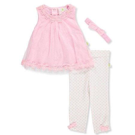 Baby Girls' 2-Piece Leggings Set Outfit with Headband](Duck Outfit)