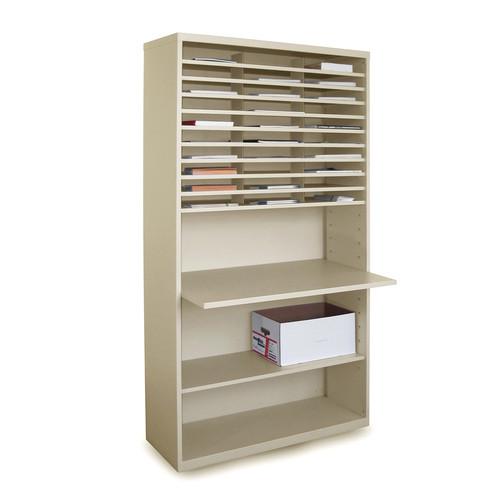 marvel office furniture mailroom mail sorter with adjustable work
