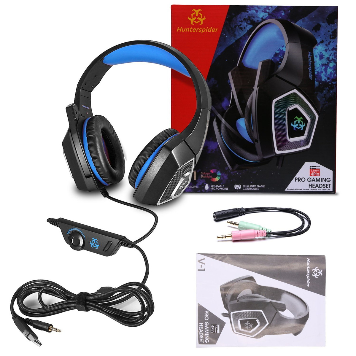 Gaming Headset with Mic for Xbox One PS4 PC Nintendo Switch Tablet