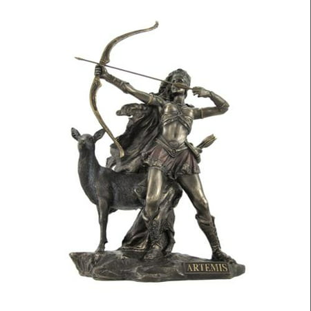 Bronzed Artemis Goddess of Hunting and Wilderness Statue thumbnail