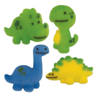 Set of 12 Jurassic Jamboree 1 1/4inch Edible Sugar Cake & Cupcake Decoration Toppers
