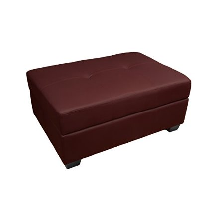 Magnificent Epic Furnishings Leather Look Upholstered Tufted Padded Hinged Storage Ottoman Bench 36 By 24 By 18 Inch Bordeaux Alphanode Cool Chair Designs And Ideas Alphanodeonline