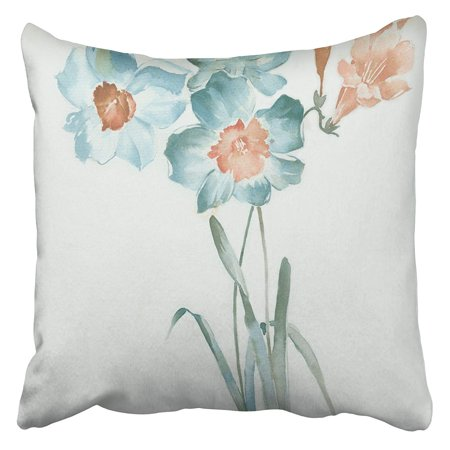 ECCOT Watercolor Abstract Four Seasons Flower Fragrance The Leaves and Design Blossom Pillowcase Pillow Cover 16x16 inch (Fragrance Pillow)
