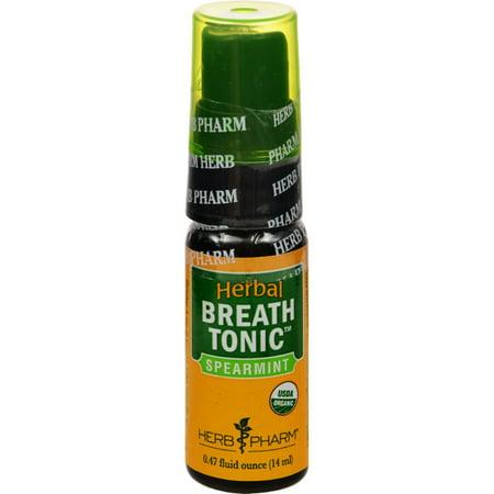 Herb Pharm Breath Tonic - Organic - Spearmint - .47 fl oz