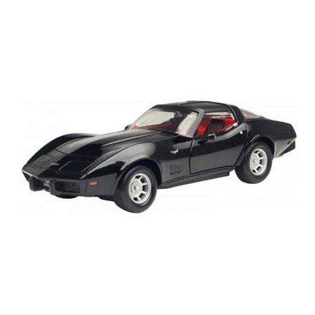 1979 Chevy Corvette, Black - Motormax Premium American 73244 - 1/24 Scale Diecast Model