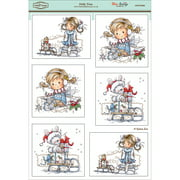 "Wee Stamps Topper Sheet 8.3""X12.2""  -Holly Time"