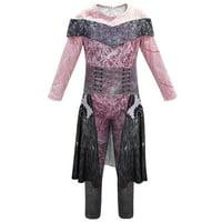 Descendants 3 Audrey Mal Costume Jumpsuit Party Cosplay Fancy Dress Outfit