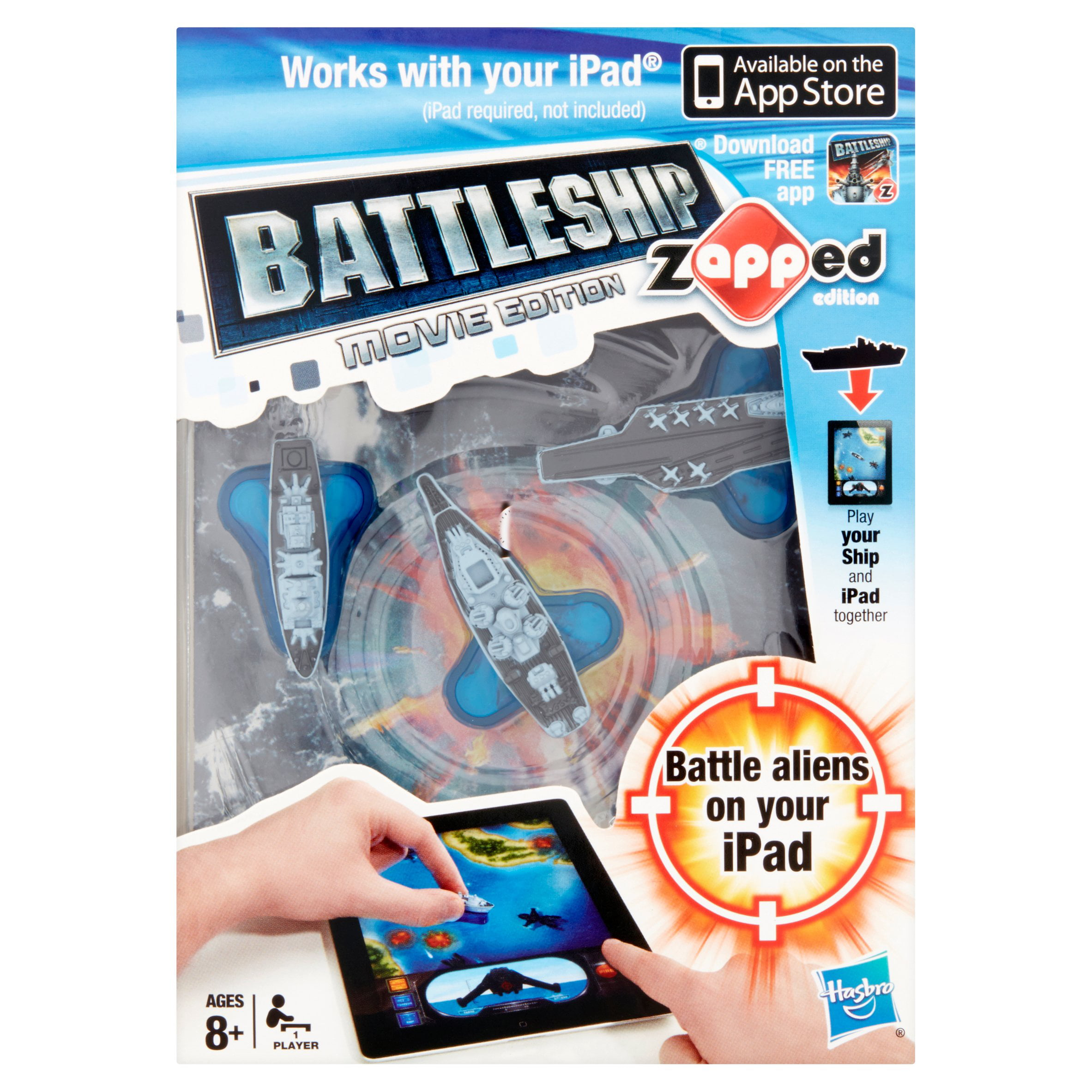 Hasbro Battleship Movie Edition Zapped Edition Battleship Toy 1 Player Ages 8+ by Hasbro Games, Consumer Affairs Dept.
