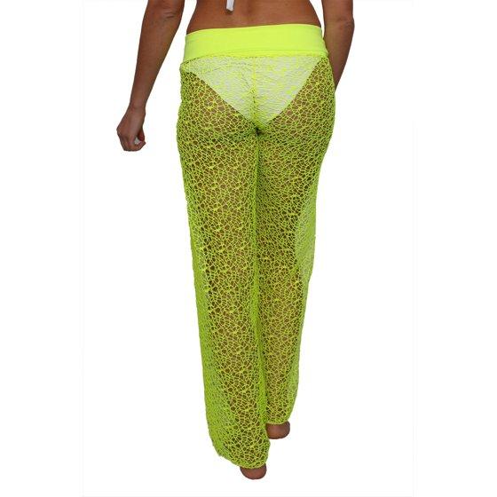Shore Trendz Womens Crochet Pants W Waist Band Swimwear Beach
