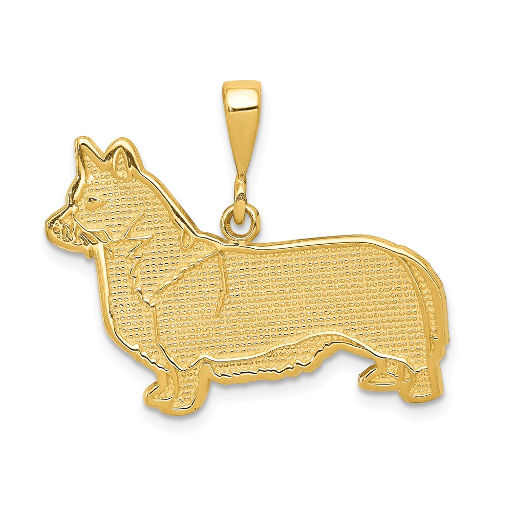14k Yellow Gold Welsh Corgi Pendant