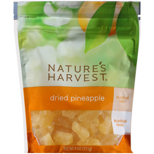 Nature's Harvest Dried Pineapple, 9 oz