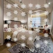 Christmas Snowflake String Decoration 3D Snowflake Paper Hanging Flag Decoration