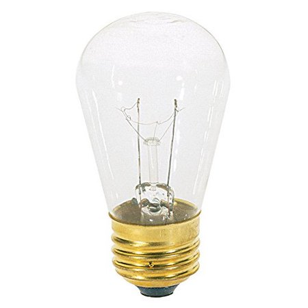 OCSParts 11S14-130 Light Bulb, 11 Watts, 0.08 Amps, 130 Volts - Pack of 10