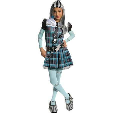 Gray and Teal Frankie Stein Girl Child Halloween Costume -