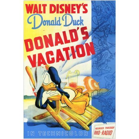 Donald's Halloween Scare (Donald's Vacation POSTER Movie Mini)