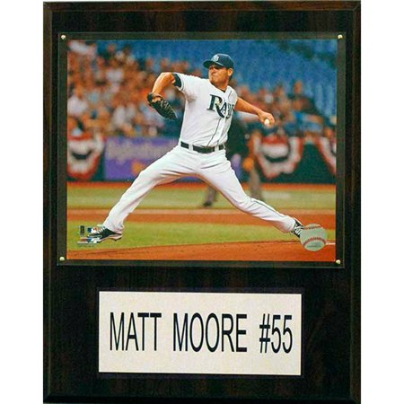 C&I Collectables MLB 12x15 Matt Moore Tampa Bay Rays Player Plaque by
