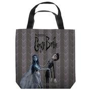 Corpse Bride Bride And Groom Tote Bag White 13X13